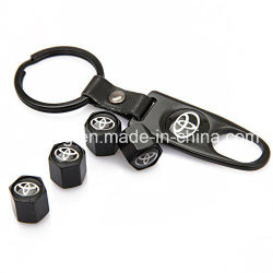 Universal Wheel Tire Valve Stem Air Caps Covers and Keychain