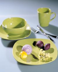 Glazed Stoneware Dinner Set with High Temperature