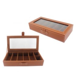Simple Unique Leather Glasses Sunglasses Box (8357)