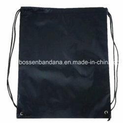OEM Produce Custom Logo Printed Cheap Promotional Polyester Orange Drawstring Shoe Sport Bag
