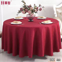 High Quality Jacquard Red Table Cloth