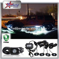 4/6/8/12 Pods Bluetooth Controller RGB LED Rock Light Kits for off Road Truck Boat