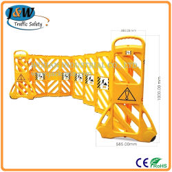China Factory to Wholesale Yellow Portable Plastic Folding Safety Barrier