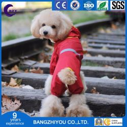 Fashion PVC Dog Red Winter Jacket Waterproof Autumn and Winter Clothes