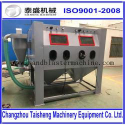 Manual blast cabinet / pressure sandblasting machine / suction / for alloy wheels