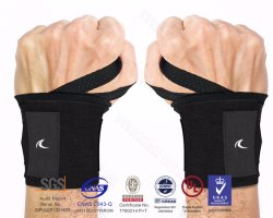 Weight Lifting Wrist Wraps Gym Straps Crossfit Bnads Bodybuilding Power Training Workout Exercise