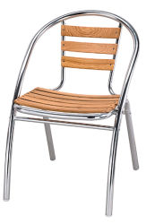 Aluminium Wood Chair (TA-70615)