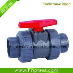 Double Union Plastic UPVC Manual Socket Ball Valve