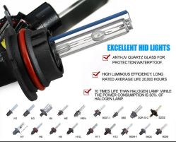 Car HID Xenon Conversion Kit 12V 35W 55W H7 6000K Slim Ballast Headlight Single Beam High Low Beam HID Bulbs H4 H/L Car Light for Automobiles & Motorcycles