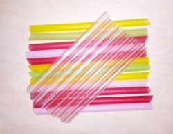 Colorful Plastic Drinking Straw for Pearl Bubble Tea