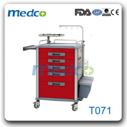 Hot! ! China Medical ABS Trolley Hospital Emergency Treatment Cart