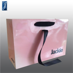 Custom Coated Paper Gift Bag with Ribbon