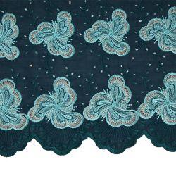 Turkey Blue Swiss Cotton African Lace