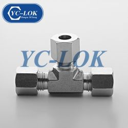 Carbon/Stainless Steel Type Three Way Tee Union Hydraulic Tube Fittings