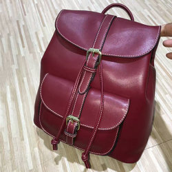 Genuine Leather Wholesale Designer School Girl Bag Ladies Leisure Backpack Emg4803