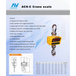 Digital Crane Scale Hanging Scale with OIML Load Cell (GS-C-1T)