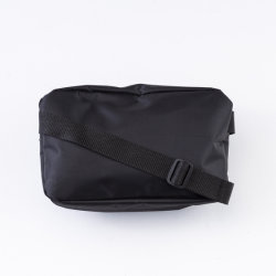 Factory Unisex Sports Black Nylon Printed Ziparound Waist Bag