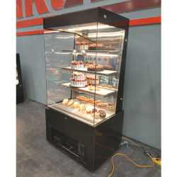 Commercial Open Style Cake Cabinet Refrigerator Cake Showcase for with 3 Layers