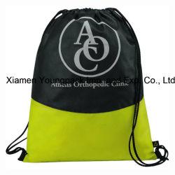 Custom Logo Printed Non-Woven Drawstring Cinch Backpack Bag