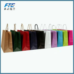 Wholesale Customized Printed Shopping Brown Kraft Paper Bag