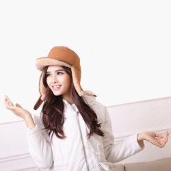 Fashion Women Lady Winter Sheepskin Sheep Skin Ear Flap Hats f19268c9cb5