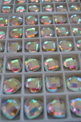 Round and Square Large Flat Back Stones Beads