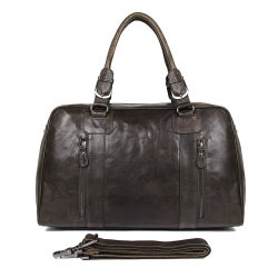 China Manufacturer Price Genuine Cowhide Travel Bag Brown Leather Duffle Bag  for Business Trip b26aa7e686499