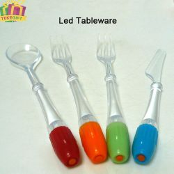 New Plastic LED Flashing Light Twinkle Tableware Knife and Fork