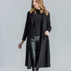 0c60a327207 Fashion Black Long Wool Winter Coat for Women