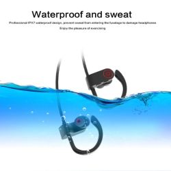 Wireless Bluetooth Headphones Ipx7 Waterproof Stereo with Bass Sports Earphone with Mic Phone Accessories
