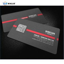 Cmyk Offset Printing Custom Matt Surface Finished PVC Business/Membership Card/ Glossy Surface Plastic/PVC Black Visiting Card Made of PVC/PC/Pet/PETG Sheet
