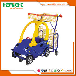 Children Shopping Cart with Plastic Toy Car