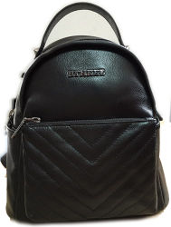 China Supplier /New Mini Lather Backpack/ Black Backpack (1608-6)