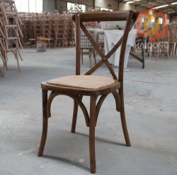 Wholesale Beech Wood Stackable Cross Back Wedding Party Chair