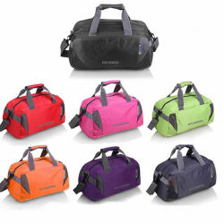 Foldable Custom Polyester Garment Traveling Sports Gym Duffle Bag