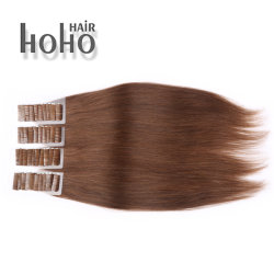 PRO Straight 22 Inch Brown Invisible Tape in Human Hair
