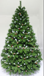 Christmas Green PE Tree Decorated Red Berries and Pinecones