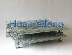 Rolling Stack Folding Wire Mesh Container