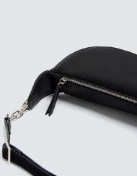 Ladies Urban Style Black PU Quilted Waist Bag Sport Waist Bag