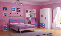 Kids Bedroom Furniture with High Glossy for Girls
