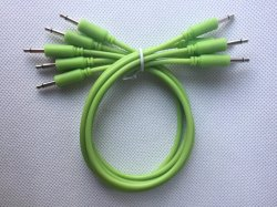 3.5mm Mono Patch Cable Glow in The Dark with Green Color
