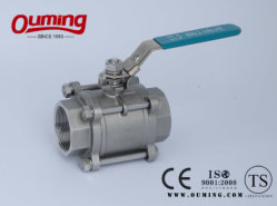 Ss 3 PC Ball Valve with Ce. API6d Approval