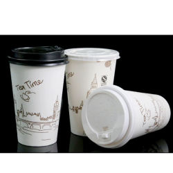 China Whole Paper Cups With Lids Reusable Coffee Tea