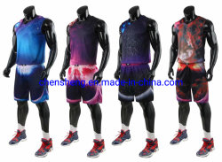 Mens Reversible Basketball Jersey Suits Blank Basketball Wear Shirt Short for Sport Basketball