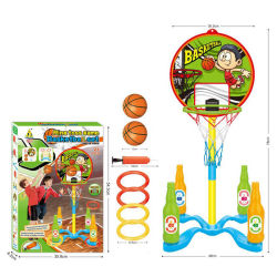 Children Sport Toy Basketball and Ring Toss Game Set (10348907)