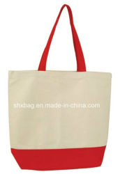 Natural Cotton Canvas Reusable Grocery Shopping Tote Bag for Gym Sports