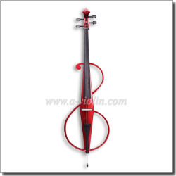 Red Wood Electric Cello with Quality Bow (CE220)