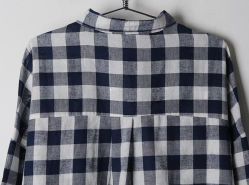 Top Fashion Women Causal Plaid Polo Collar Shirt