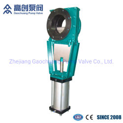 Pneumaitc Slurry Rubber Sleeves Lined Industrial Knife Gate Valve