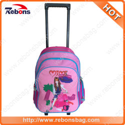 Fashion Cute Cartoon Kids Book Backpack Back to School Bags with Trolley  for Teen Girls d1db7098621db